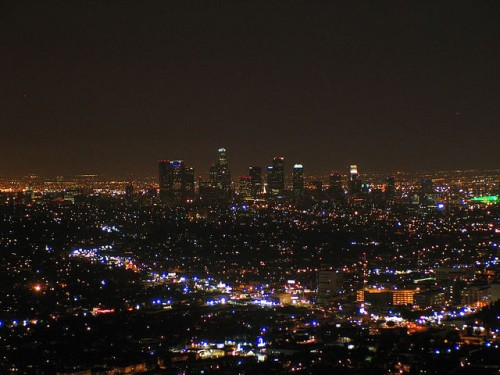 L.A. at night