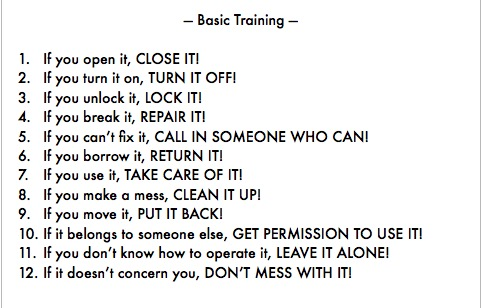 Kubrick's 12 Basic Training Rules.JPG